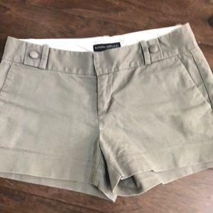 Banana republic dark taupe/gray shorts size 4